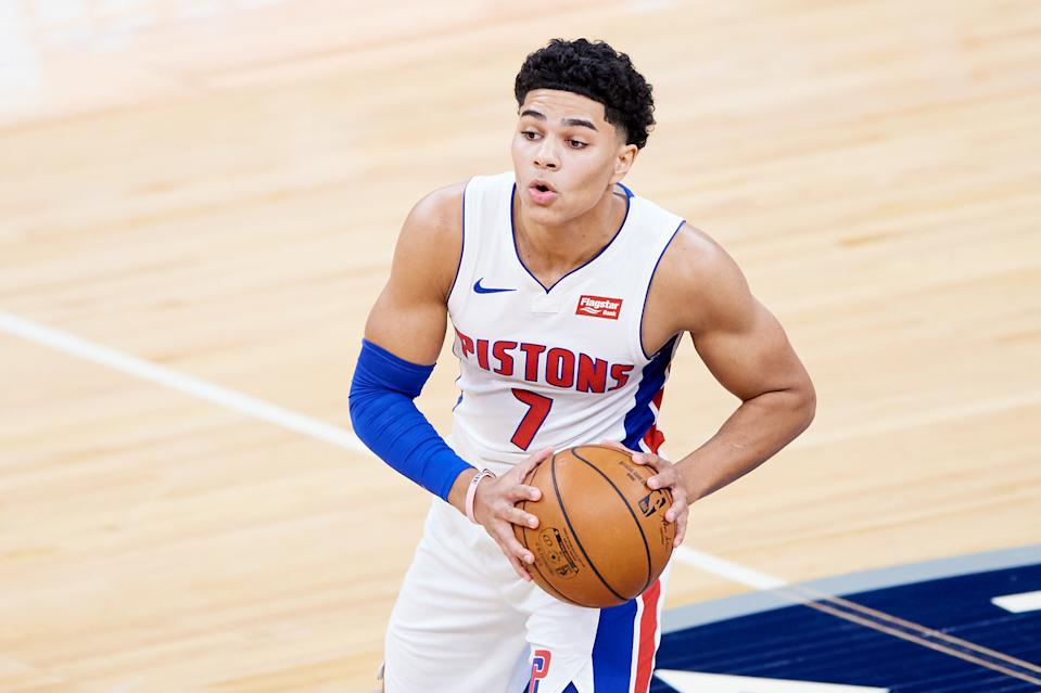 Detroit Pistons rookie Killian Hayes has reportedly suffered a significant injury. (Hannah Foslien/Getty Images)