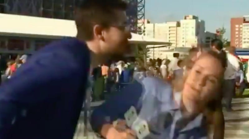 Brazilian reporter deals with sexual harasser at World Cup like a boss