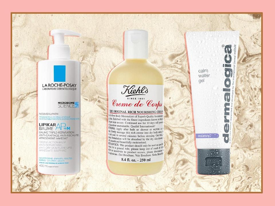 <p>Moisturisers work to replace the natural oils the skin is struggling to produce and form a protective layer</p> (iStock photo/The Independent)