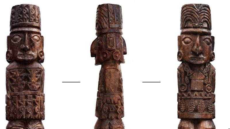 Pachacamac Idol statue's true colours finally revealed