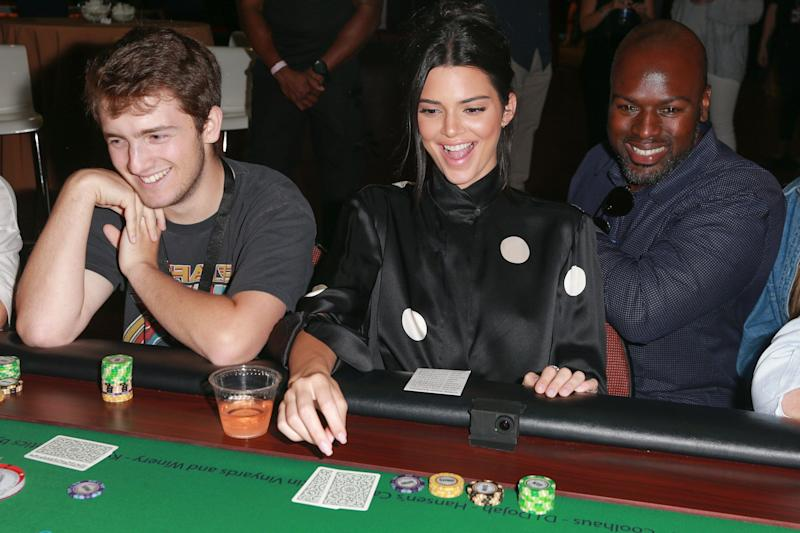 Kendall Jenner and Corey Gamble in happer times. (Photo: Rich Fury via Getty Images)