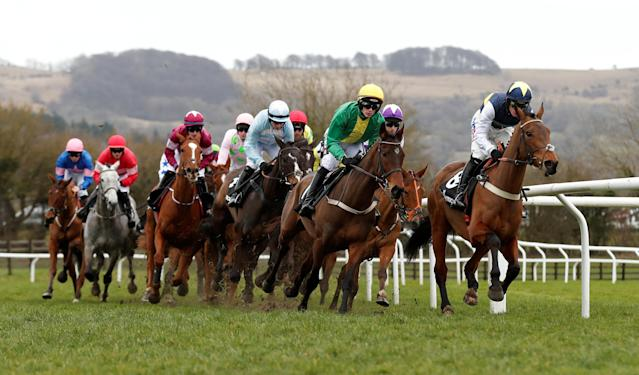 Horse Racing - Cheltenham Festival - Cheltenham Racecourse, Cheltenham, Britain - March 14, 2018 General view during the 13.30 Ballymore Novices' Hurdle Action Images via Reuters/Matthew Childs
