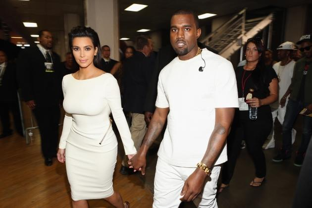 Kim Kardashian and rapper Kanye West attend the 2012 BET Awards at The Shrine Auditorium on July 1, 2012 in Los Angeles -- Getty Images