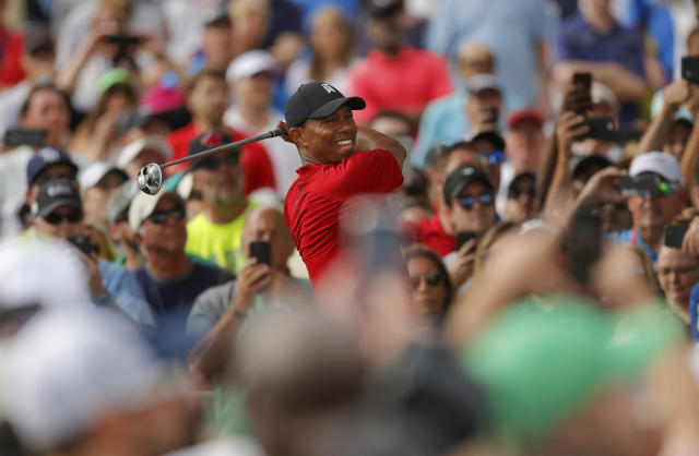 "Tiger Woods says he's ""very, very eager"" to play in next month's Masters. (AP)"
