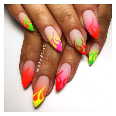 """<p>The coolest thing about these ombre flames? The matte finish.</p><p><a href=""""https://www.instagram.com/p/BzSMHODFOs4/"""" rel=""""nofollow noopener"""" target=""""_blank"""" data-ylk=""""slk:See the original post on Instagram"""" class=""""link rapid-noclick-resp"""">See the original post on Instagram</a></p>"""
