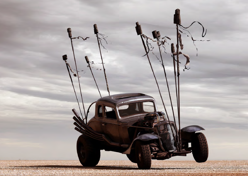 NUX CAR: 1932 THREE WINDOW CHEV COUPE, V8 from Mad Max Fury Road