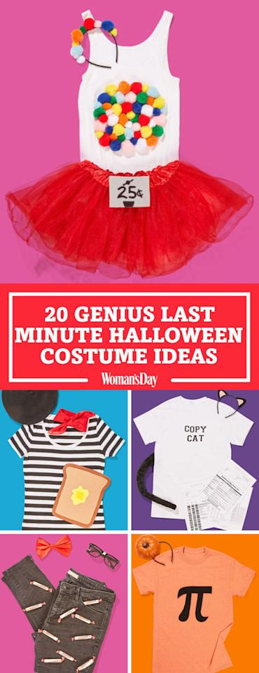 """<p>Save these costume ideas for later by pinning this image! Follow Woman's Day on <a rel=""""nofollow"""" href=""""https://www.pinterest.com/womansday/"""">Pinterest</a> for more great Halloween costume ideas. </p>"""