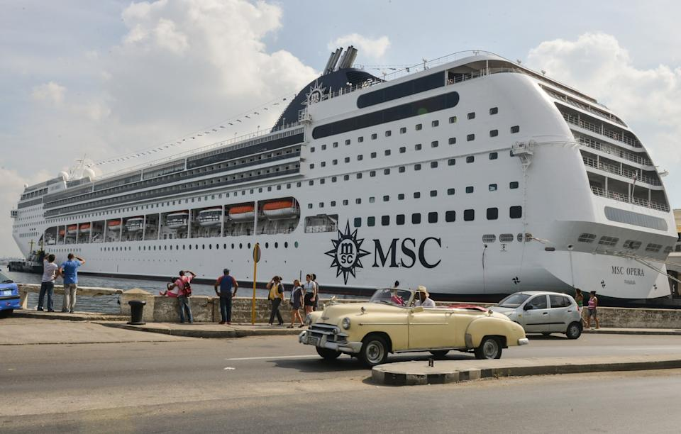MSC Cruises are among the major cruise lines to welcome back passengers in Italy – but Britons are still advised not to sail - ANA RODRIGUEZ