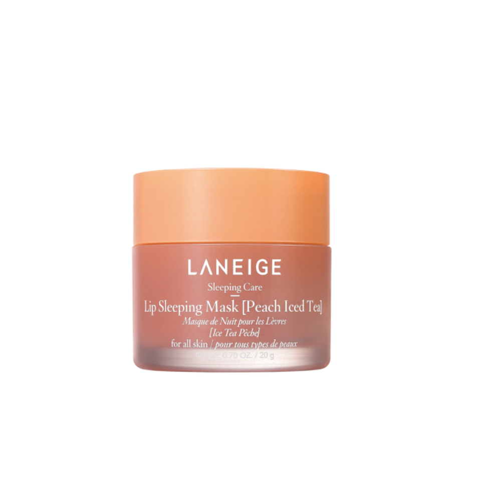 """Laneige's lip sleeping mask is legendary at this point and for good reason. Apply the mask at night and you'll wake up to smooth lips all year round. To kick off summer festivities, the brand launched a limited edition peach flavor and it's everything you could want. Does it smell like a tall glass of ice cold tea? Absolutely. Does it still deliver on the hydration it's known for, leaving that touch of gloss for a more pronounced pout? Of course. All I can say is, get her while you can because she's around for a good time, not a long one. – <em>M.O.</em> $22, Sephora. <a href=""""https://shop-links.co/1744820850384210715"""" rel=""""nofollow noopener"""" target=""""_blank"""" data-ylk=""""slk:Get it now!"""" class=""""link rapid-noclick-resp"""">Get it now!</a>"""