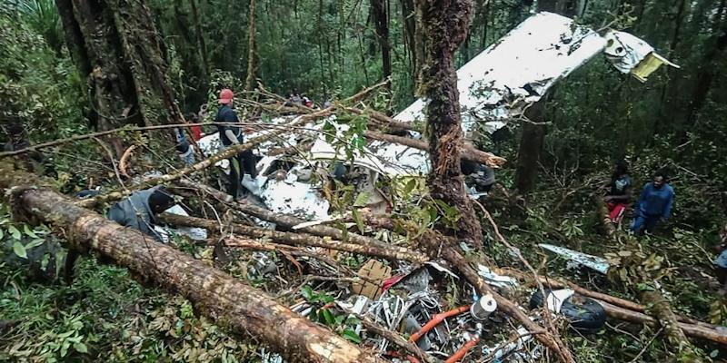The wreckage of the plane was found in a heavily forested area on a mountain side in the Oksibil subdistrict (AFP Photo/Handout)