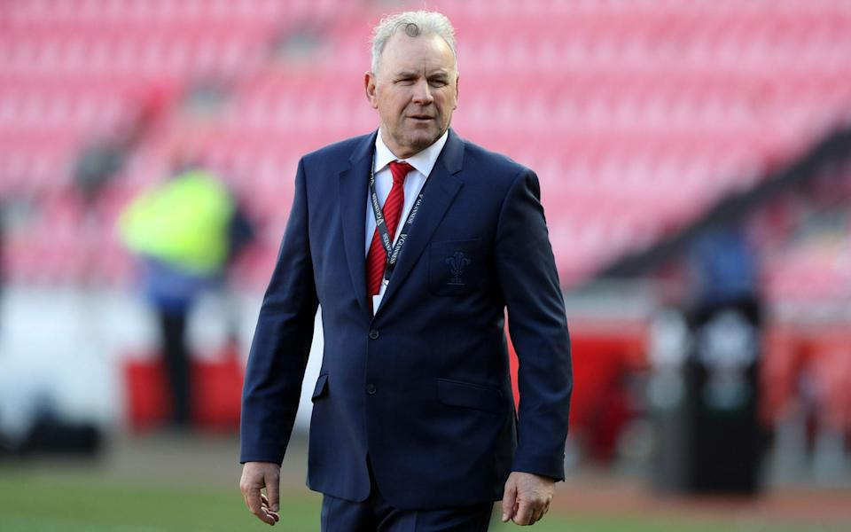 Wayne Pivac looks on prior to the 2020 Guinness Six Nations match between Wales and Scotland a - Getty Images