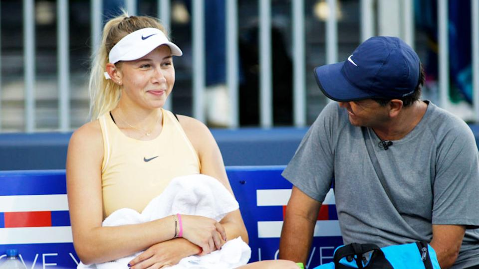 Amanda Anisimova has been rocked by the death of her father. Pic: Getty