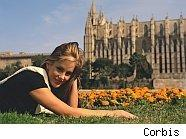 young lady and church