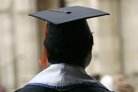 An undocumented UCLA student attends a graduation ceremony at a church near the campus in Los Angeles