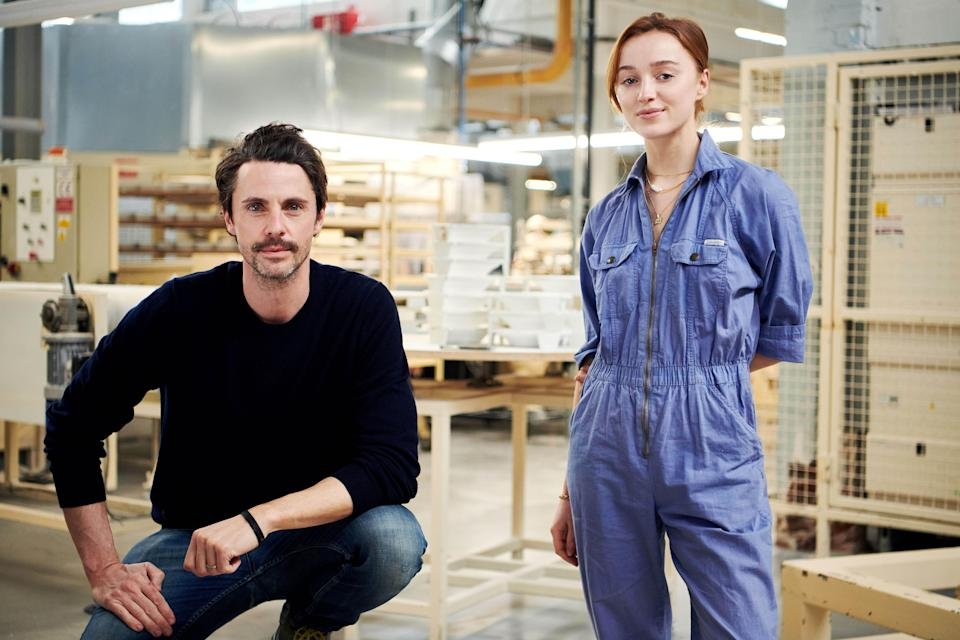Phoebe Dynevor with Matthew Goode (Alison Painter/Sky UK)