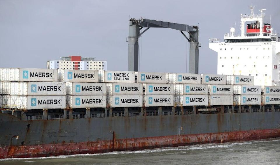 Shipping giant Maersk said it is diverting vessels away from UK ports because of a build-up of cargo (PA) (PA Archive)