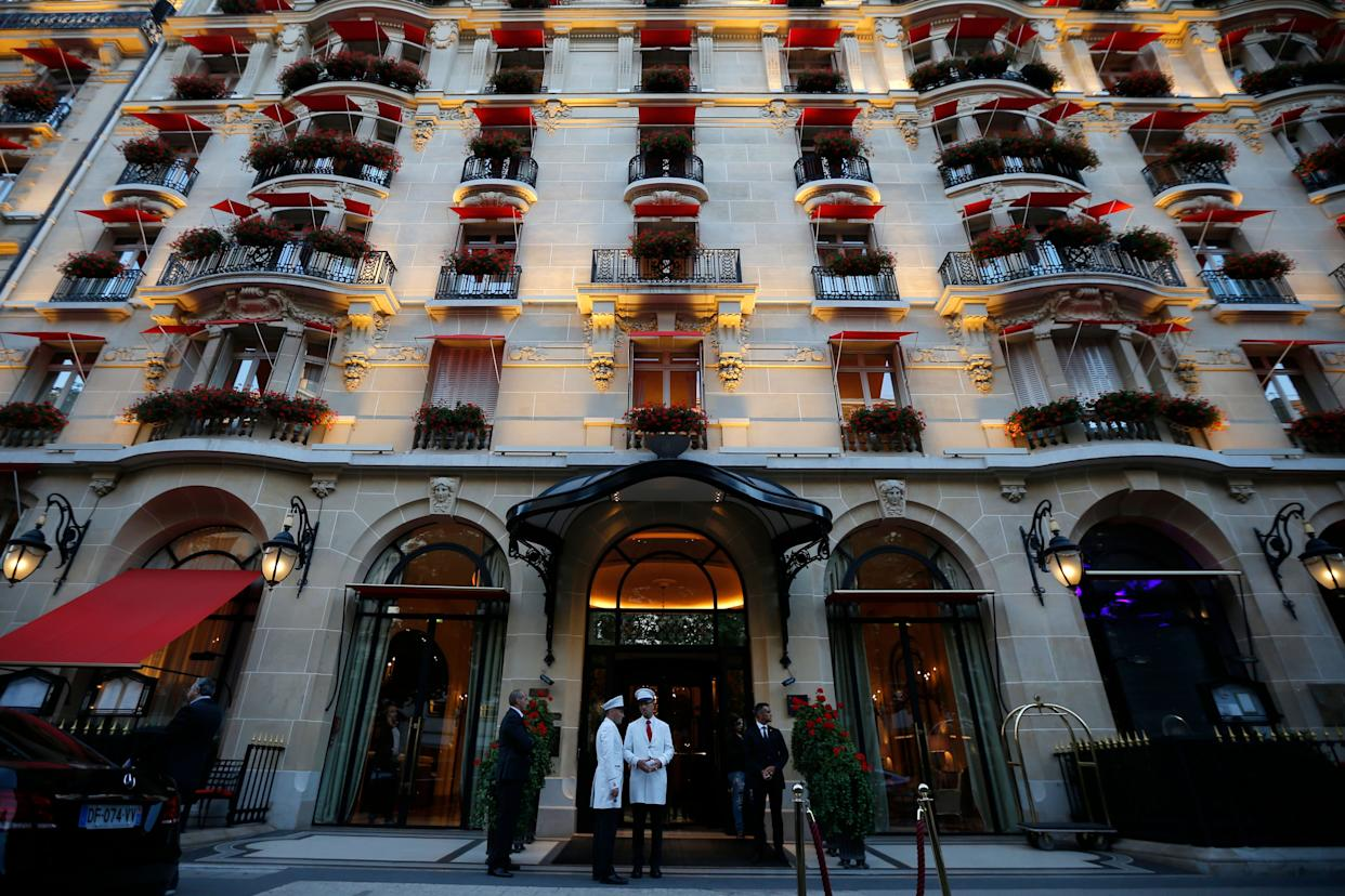 """Astrid and Charlie stayed together at the Hotel George V (now the <a href=""""https://www.fourseasons.com/paris/"""" rel=""""nofollow noopener"""" target=""""_blank"""" data-ylk=""""slk:Four Seasons Hotel, George V"""" class=""""link rapid-noclick-resp"""">Four Seasons Hotel, George V</a>) in Paris in 1995."""