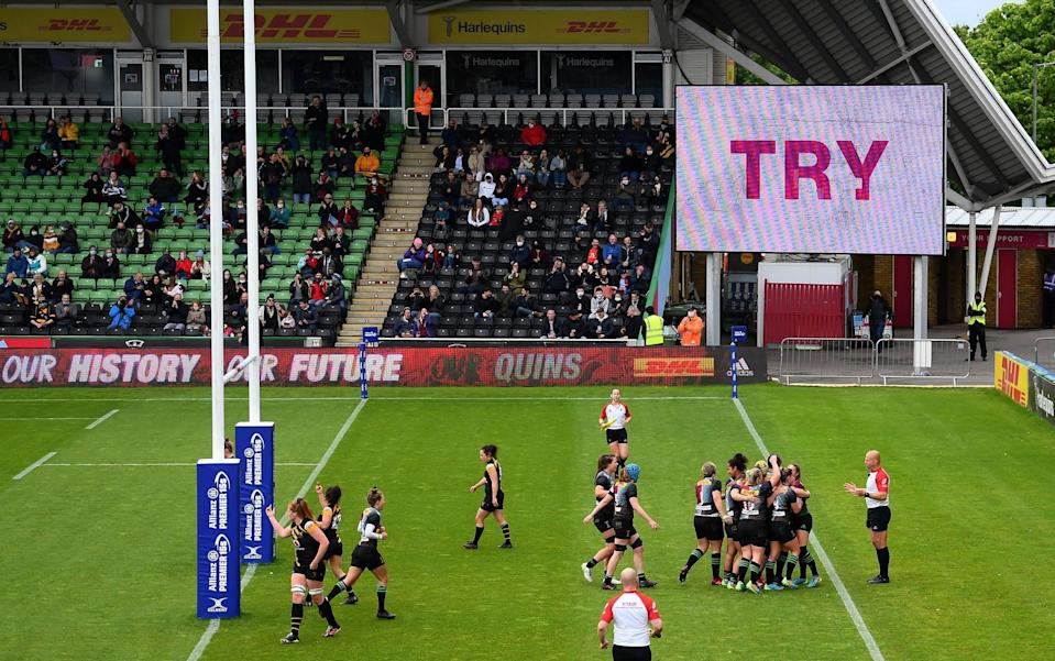 Harlequins were in imperious form in front of their fans at The Stoop - GETTY IMAGES