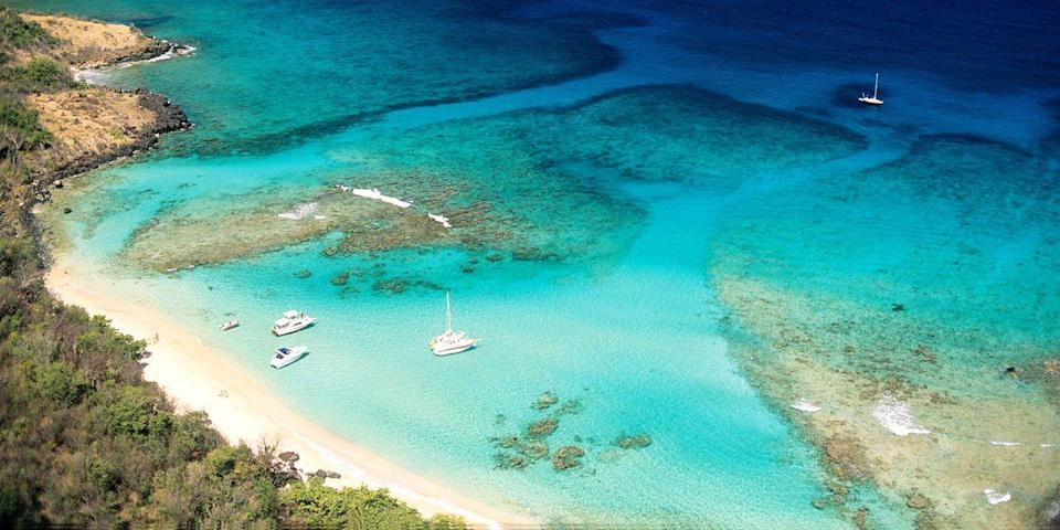 """<p>This tiny island, 17 miles off the eastern coast of <a href=""""https://www.bestproducts.com/fun-things-to-do/g22132678/top-caribbean-islands-to-visit/"""" rel=""""nofollow noopener"""" target=""""_blank"""" data-ylk=""""slk:Puerto Rico"""" class=""""link rapid-noclick-resp"""">Puerto Rico</a>, doesn't have high-rise resorts or fancy restaurants. But it does have a low-key vibe, empty beaches and some incredible snorkeling on the beaches in Luis Peña Channel Natural Reserve. Keep an eye out for stingrays and sea turtles!<br></p><p><a class=""""link rapid-noclick-resp"""" href=""""https://go.redirectingat.com?id=74968X1596630&url=https%3A%2F%2Fwww.tripadvisor.com%2FHotel_Review-g580453-d6953124-Reviews-Hillbay_View_Villas-Culebra_Puerto_Rico.html&sref=https%3A%2F%2Fwww.redbookmag.com%2Flife%2Fg34756735%2Fbest-beaches-for-vacations%2F"""" rel=""""nofollow noopener"""" target=""""_blank"""" data-ylk=""""slk:BOOK NOW"""">BOOK NOW</a> Hillbay View Villas</p>"""