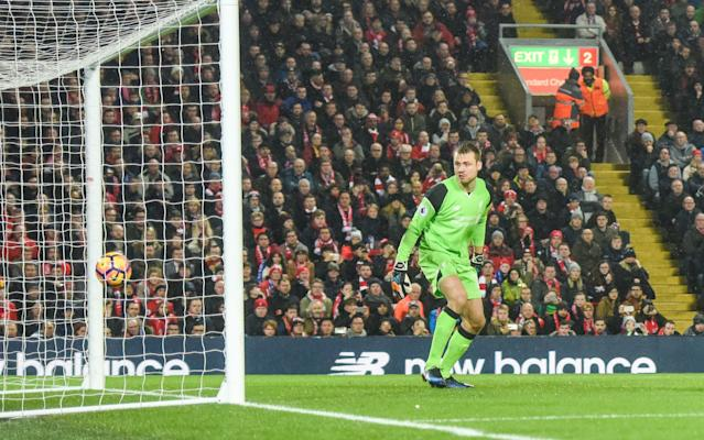 <span>Every mistake Mignolet makes is pounced upon by his detractors</span> <span>Credit: Rex Features </span>