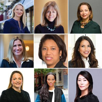 Pictured: Elizabeth Edwards (Managing Partner, H Venture Partners), Kate Mitchell (Co-CEO of PEWIN and Partner at Scale Venture Partners), Kelly Williams (Co-CEO of PEWIN), Krista Hatcher (Co-President of PEWIN, Partner at Chicago Pacific Founders), Kim Lew (CIO of Carnegie Corporation), Nia White (Partner, Astra Capital Management), Alisa Amarosa Wood (Partner, KKR), Sarah Kunst (Managing Partner, Cleo Capital), and Suzanne Yoon (Partner, Kinzie Capital)