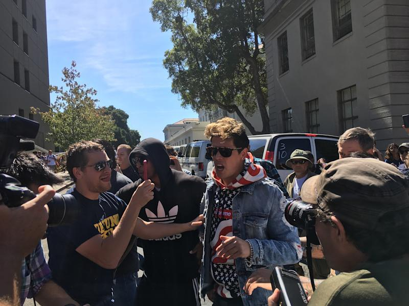 Milo Yiannopoulos at UC Berkeley in September.  (Christopher Mathias HuffPost)