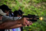 """There """"tends to be an increase in gun sales"""" whenever there's a presidential election said Chad Winkler, general manager of the Boondocks Firearms Academy in Jackson, Mississippi"""