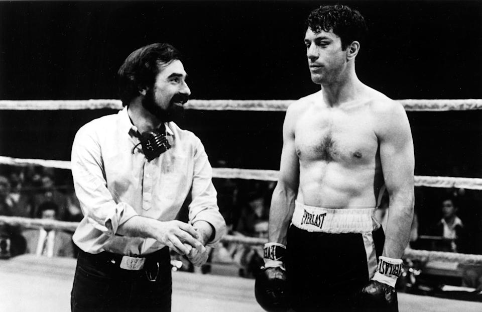 Martin Scorsese and De Niro on the set of 'Raging Bull' (Photo: Courtesy Everett Collection)