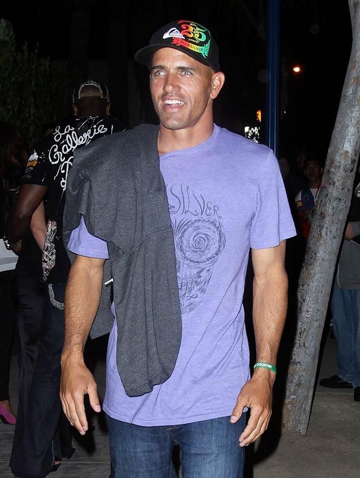 "Pro surfer Kelly Slater looked like he was on the prowl for a new celebrity gal pal. The former ""Baywatch"" star has been linked to a long list of famous females including Pamela Anderson, Gisele Bundchen, Kirsten Dunst, and Cameron Diaz. EPA/<a href=""http://www.x17online.com"" target=""new"">X17 Online</a> - February 18, 2010"