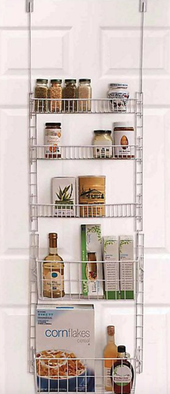 "<h3><a href=""https://www.bedbathandbeyond.com/store/product/salt-trade-over-the-door-5-shelf-pantry-organizer-in-white/5431068"" rel=""nofollow noopener"" target=""_blank"" data-ylk=""slk:Salt Over-the-Door Shelf Pantry Organizer"" class=""link rapid-noclick-resp"">Salt Over-the-Door Shelf Pantry Organizer</a></h3><br><strong>When countertops and cupboards are out of the storage question</strong>: Turn to this multi-tiered and streamlined metal rack that's designed to hang over the back of a door (or the side of your fridge).<br><br><strong>Salt</strong> Over-the-Door 5-Shelf Pantry Organizer in White, $, available at <a href=""https://go.skimresources.com/?id=30283X879131&url=https%3A%2F%2Fwww.bedbathandbeyond.com%2Fstore%2Fproduct%2Fsalt-trade-over-the-door-5-shelf-pantry-organizer-in-white%2F5431068"" rel=""nofollow noopener"" target=""_blank"" data-ylk=""slk:Bed Bath & Beyond"" class=""link rapid-noclick-resp"">Bed Bath & Beyond</a>"