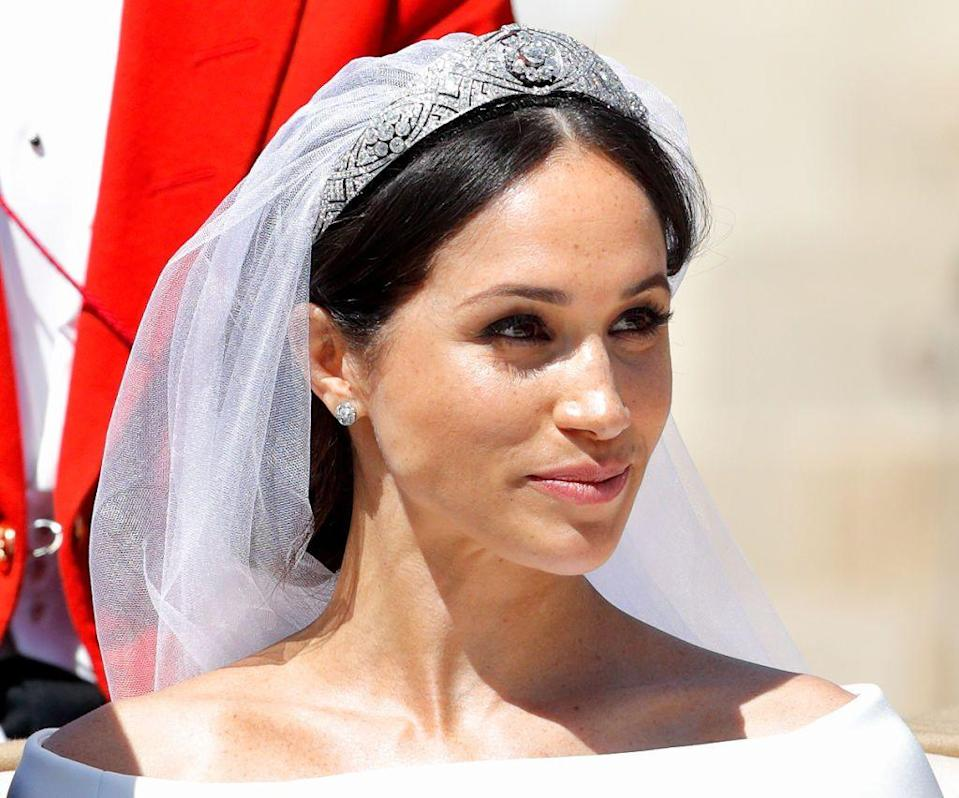 """<p>On her wedding day, Meghan Markle showed us that less is more. The """"no makeup makeup"""" look is perfect for anyone who wants to be a little more minimalist on their wedding day. </p>"""