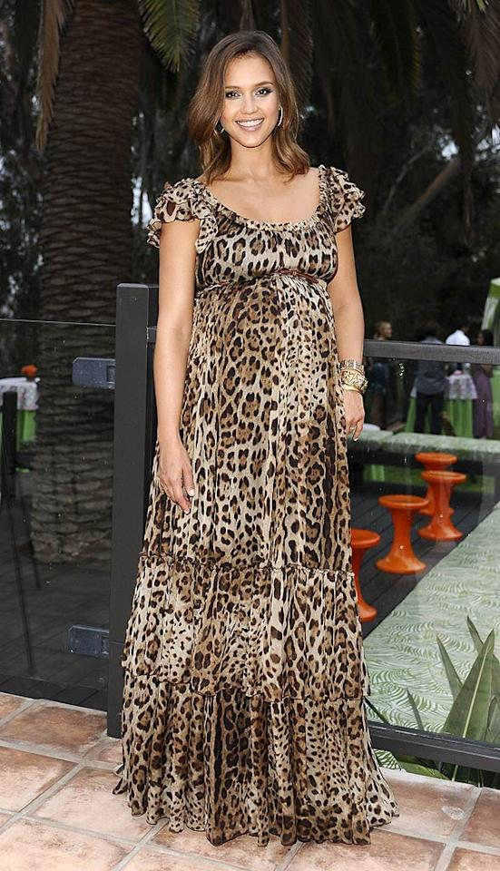"She may be seven months pregnant, but that certainly hasn't prevented Jessica Alba from looking fabulous. At a recent <i>Lucky</i> magazine event, the mom-to-be showed off her growing baby bump in a ferocious Dolce & Gabbana gown and stacked House of Lavande bracelets. Stefanie Keenan/<a href=""http://www.wireimage.com"" target=""new"">WireImage.com</a> - July 20, 2011"