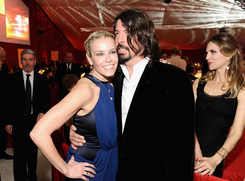 Chelsea Handler and Dave Grohl attend Chopard at 21st Annual Elton John AIDS Foundation Academy Awards Viewing Party at Pacific Design Center on February 24, 2013 in West Hollywood, California.