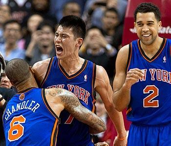 "Lin has continued to surprise his Knicks teammates with his remarkable play. ""Every single night, you don't see it coming,"" Knicks center Tyson Chandler said. ""And then he does it again."""