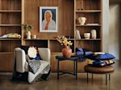 """<p><strong>H&M Home has collaborated with three female artists — creative duo <strong><a href=""""https://www.instagram.com/sacree_frangine/"""" rel=""""nofollow noopener"""" target=""""_blank"""" data-ylk=""""slk:Sacrée Frangine"""" class=""""link rapid-noclick-resp"""">Sacrée Frangine</a></strong>, <strong><a href=""""https://www.instagram.com/brunnamancuso/"""" rel=""""nofollow noopener"""" target=""""_blank"""" data-ylk=""""slk:Brunna Mancuso"""" class=""""link rapid-noclick-resp"""">Brunna Mancuso</a></strong> and Berlin-based <strong><a href=""""https://www.instagram.com/dianaejaita/"""" rel=""""nofollow noopener"""" target=""""_blank"""" data-ylk=""""slk:Diana Ejaita"""" class=""""link rapid-noclick-resp"""">Diana Ejaita</a></strong> — for a collection of personal pieces for the home. </strong></p><p>Available to buy in selected stores and <a href=""""https://www2.hm.com/en_gb/free-form-campaigns/7044c-artist-collab-diana-ejaita-sacree-frangine-brunna-mancuso.html"""" rel=""""nofollow noopener"""" target=""""_blank"""" data-ylk=""""slk:online"""" class=""""link rapid-noclick-resp"""">online</a> now, the 'For the Love of Art' range includes graphic cushions, blankets, ceramics and decorative posters to spruce up every corner of the home. Celebrating smaller arts and crafts businesses, all of the talented artists have been chosen by H&M Home to express their style through various homeware pieces. </p><p>Take a look at the gorgeous range below...</p>"""