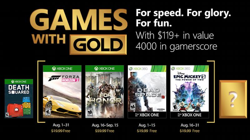 Every Xbox One and Xbox 360 game you can download for free in August