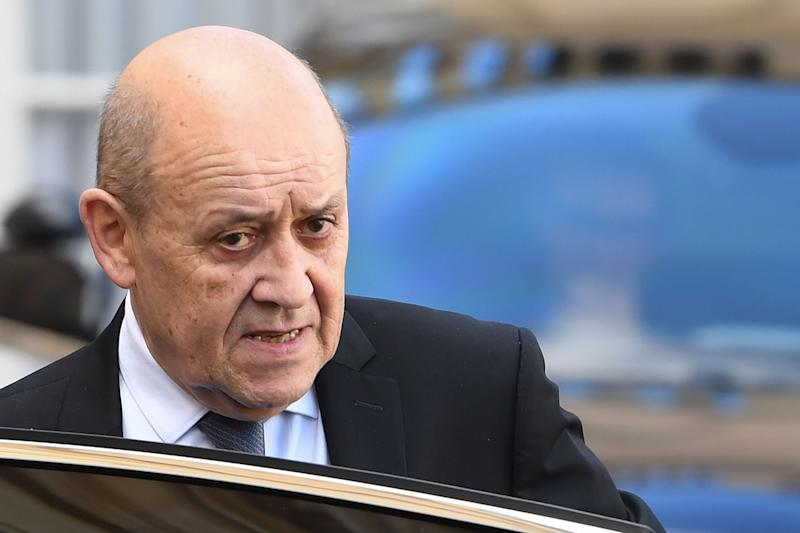 French Foreign Affairs Minister Jean-Yves Le Drian said everyone will defend their own interests in trade talks (AFP via Getty Images)