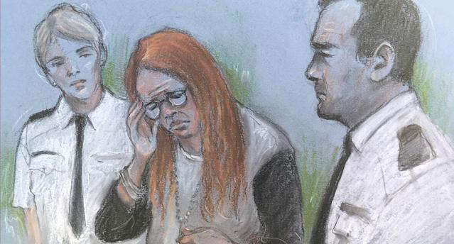 Court artist sketch of Holly Strawbridge who was jailed for 10 years at Plymouth Crown Court on Friday (PA)