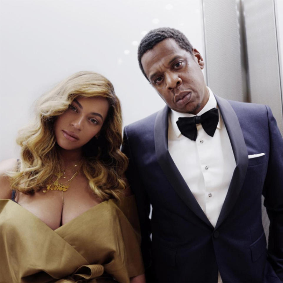 <p>Eyes up here! Bey shared a photo from her date night with hubby Jay-Z. The parents of three proved they clean up well — as if there was any doubt — as they took the Big Apple by storm. (Photo: Beyoncé via Instagram) </p>