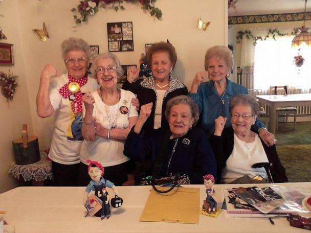 PHOTO: Krier with fellow Rosies. (Mae Krier)