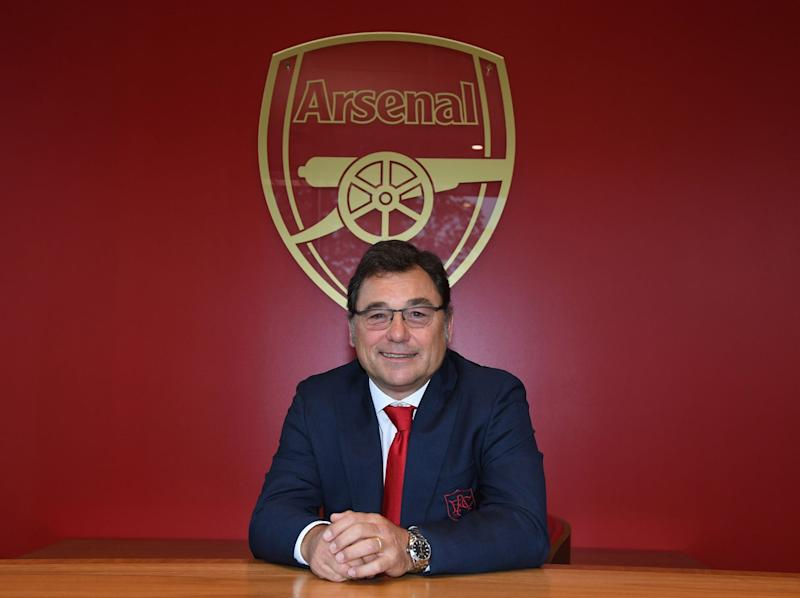 Arsenal's head of football, Raul Sanllehi: Arsenal FC via Getty
