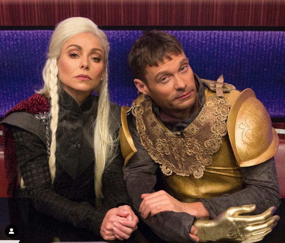 <p>Even though the show has ended, you can never go wrong with a <em>Game of Thrones</em> get-up. Kelly Ripa and Ryan Seacrest donned these outfits back in 2017, but they're just as good in 2020.</p>