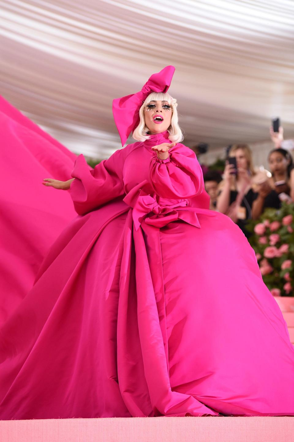 When Gaga showed up to the 2019 Met Gala in this huge dress by Brandon Maxwell, no one could expect what was underneath, or better yet, the performance that was to come. But with a theme like Camp, of course, Gaga would be the one to give it her all.