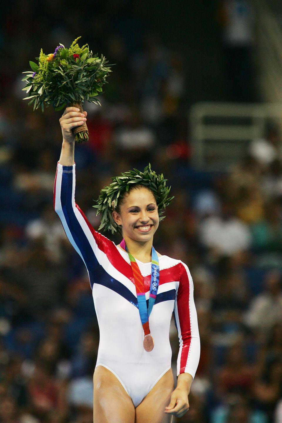 <p>Courtney Kupets achieved Olympic success winning two medals at the 2004 Athens Games. Although she was expected to compete in the 2008 Olympics, she retired due to injury in 2009. </p>