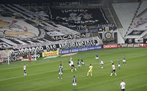Brazil soccer's Serie A begins as COVID-19 deaths at 100,000