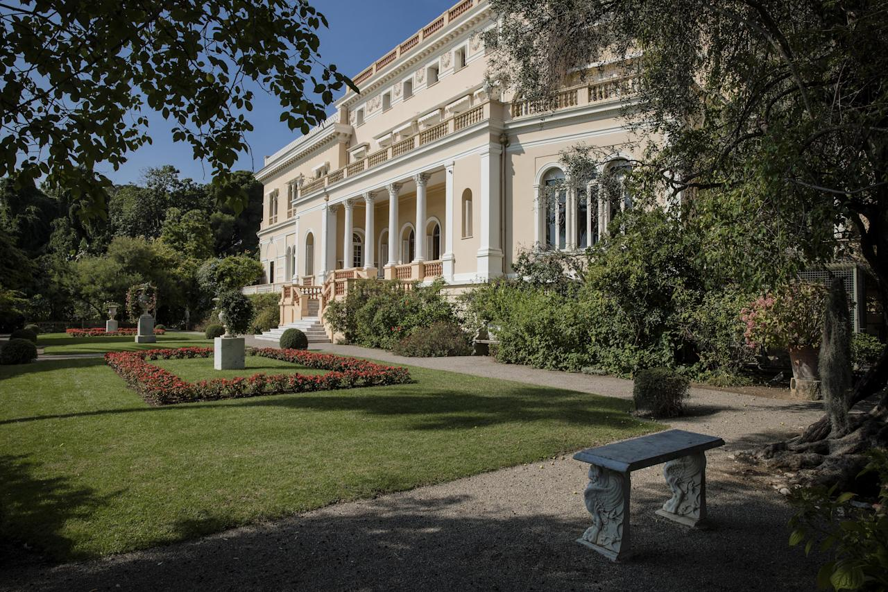 <p>Marble urns and benches decorate the lawn in private gardens at the Villa Les Cedre. With a price of €350 million (£312 million, or US$411 million), the owner, Italian distiller Davide Campari-Milano SpA, is betting that the house's combination of history, luxury, and a prime location will be enough to make it the most expensive residential sale in history. </p>