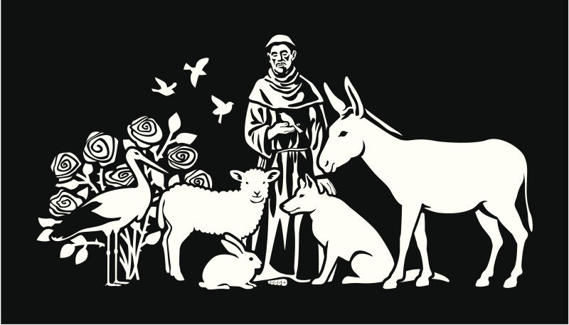 St. Francis of Assisi - the patron saint of animals.