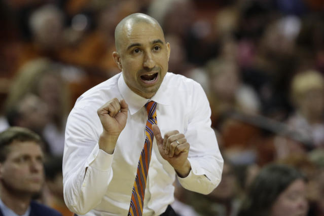 Shaka Smart will return to Texas, ending speculation that his job was at risk. (AP Photo/Eric Gay)