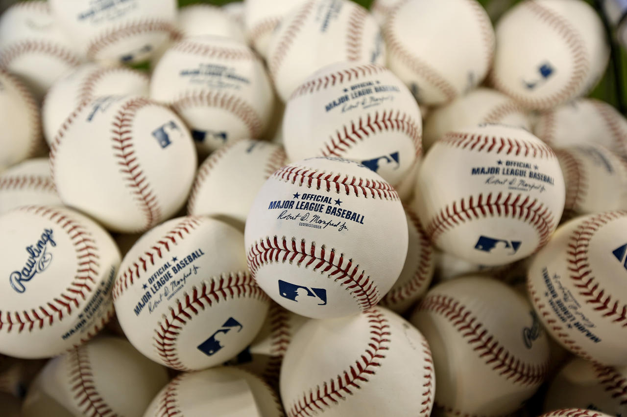 Baseballs seen before an Opening Day baseball game between the Colorado Rockies and the Miami Marlins on Thursday, March 28, 2019, at Marlins Park in Miami. (Photo: David Santiago/Miami Herald/TNS via Getty Images)
