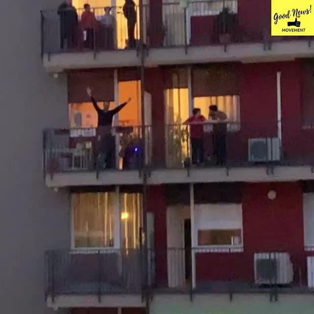 """<p>In Italy, where citizens have been on lockdown since the start of last week, impromptu mass sing and dance-alongs have been taking place via balconies.</p><p>The Good News Movement Instagram account shared this video of a Friday night balcony dance party in Milan where locals were attempting to keep spirits up despite being housebound.</p><p><a href=""""https://www.instagram.com/p/B9sM_PAgE6J/"""">See the original post on Instagram</a></p>"""
